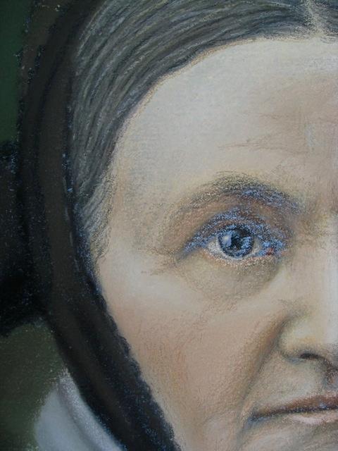 Pair of Antique Pastel Portraits Portra42