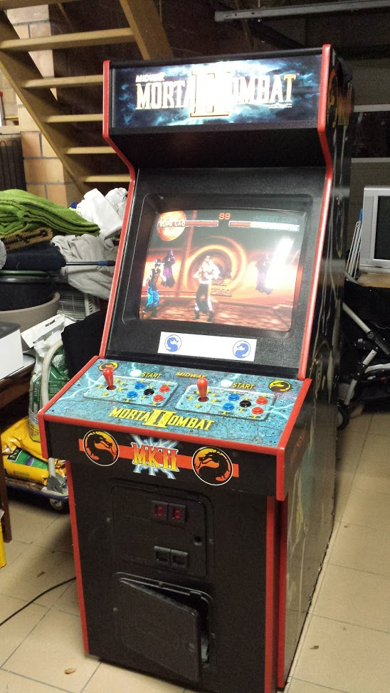 [For Sale] Mortal Kombat II Control Panel & Marquee Original 20170210