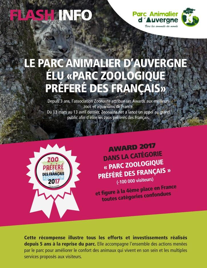 Parc Animalier d'Auvergne - Élu Parc Zoologique préféré des Français  Cp252011