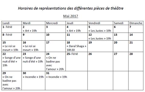 Tableau des annonces Theatr12
