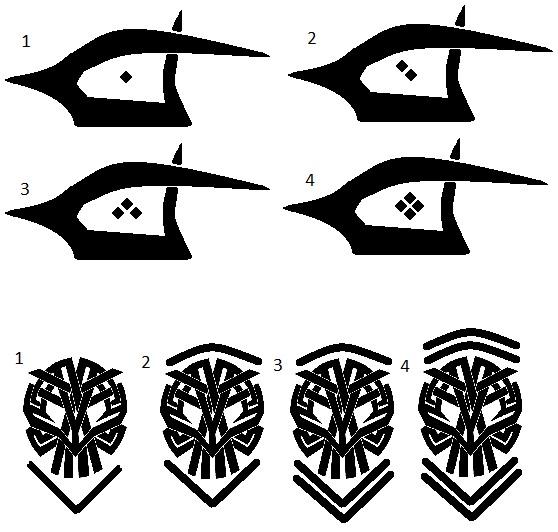 Dark Eldar Numbers/Symbols Tribal10