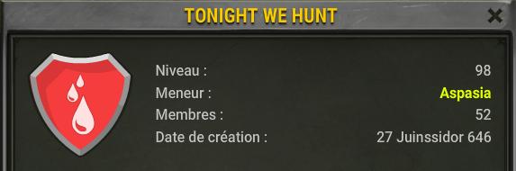 "Candidature de la guilde ""Tonight We Hunt"". Screen10"