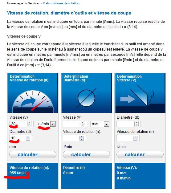 Quel est la vitesse de perçage conseillée pour du tube PVC pression ? Captur10