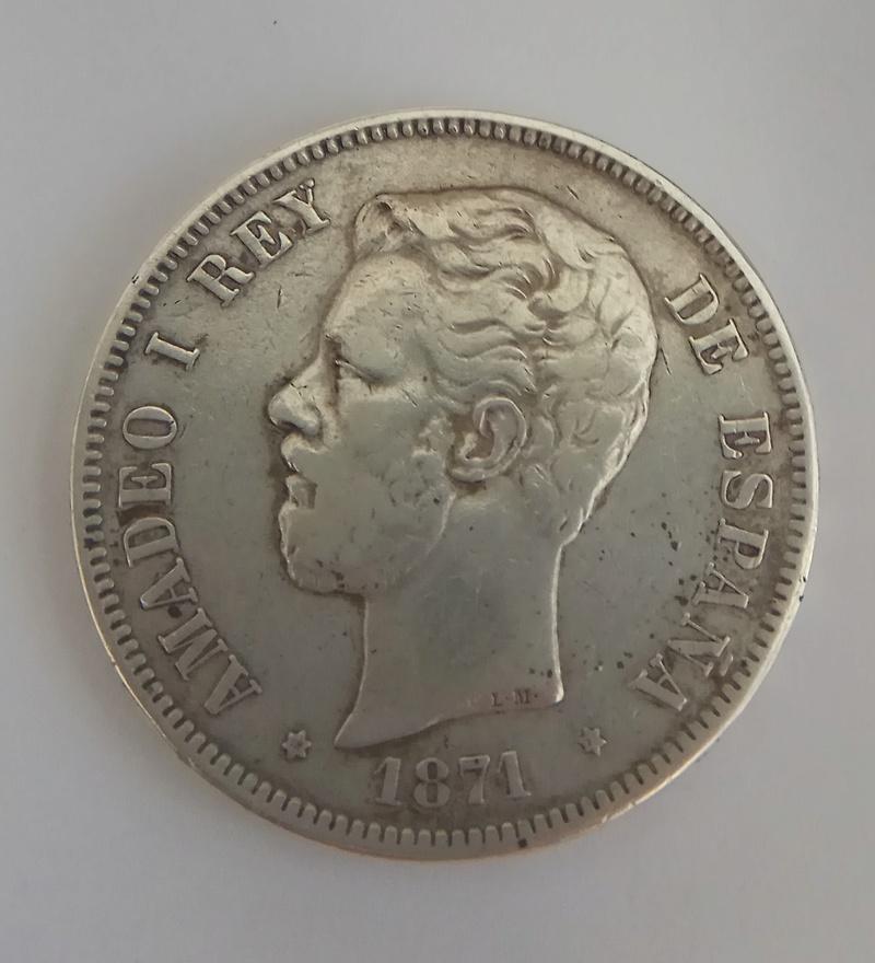 5 pesetas 1871. Amadeo I. SD M Img_2019