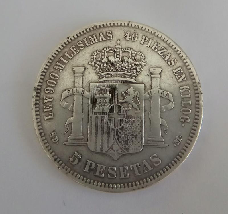 5 pesetas 1871. Amadeo I. SD M Img_2020