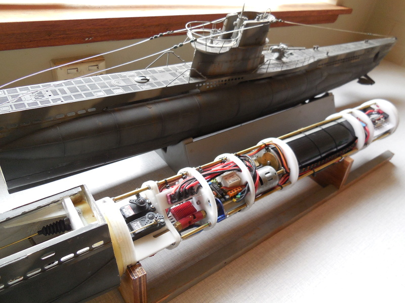 Laser cut Robbe U47 conversion Uboat_17