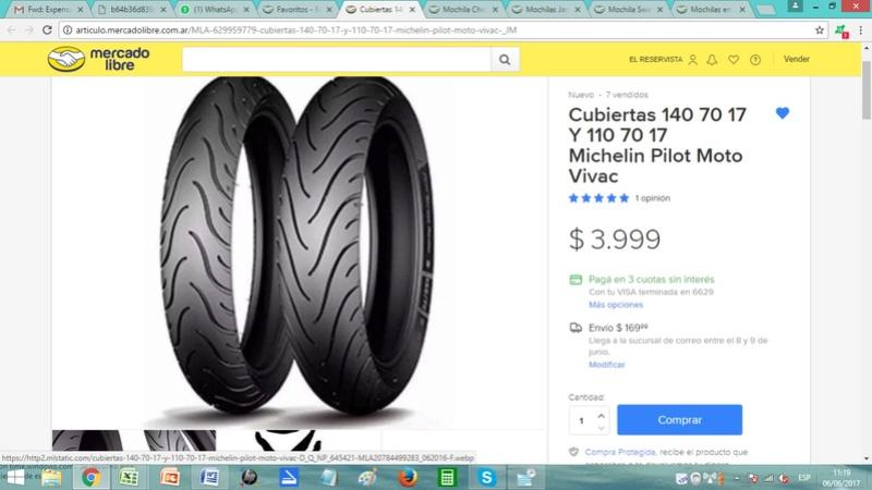Cambie neumáticos y tiembla moto en alta Whatsa11