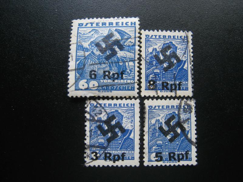 Volkstrachten mit Aufdruck Hakenkreuz und Wertangabe RPfg _5715