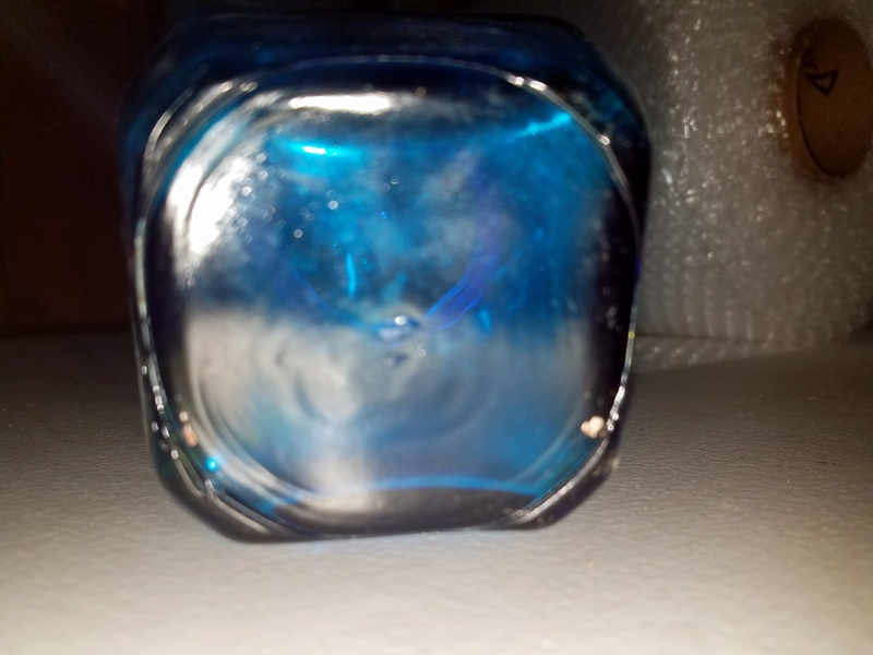Blue glass jar. Glass ID please... 20170656