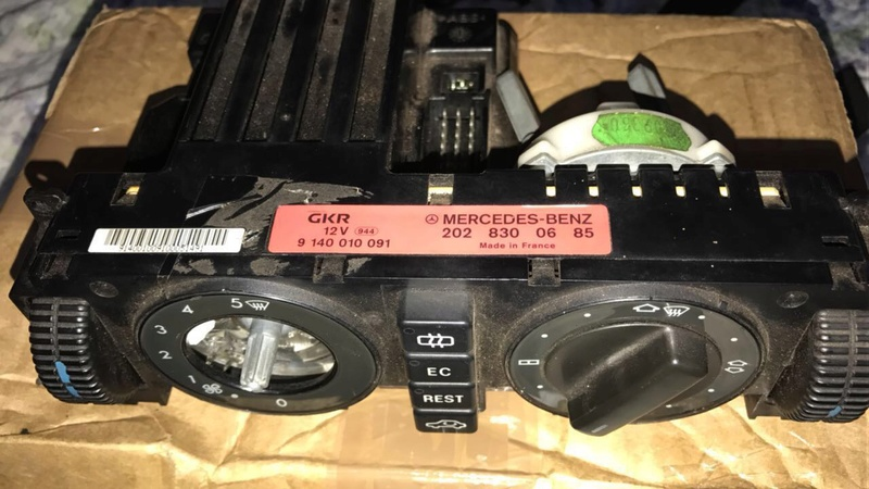 Comando do ar-condicionado W202 C220 1994 Image210
