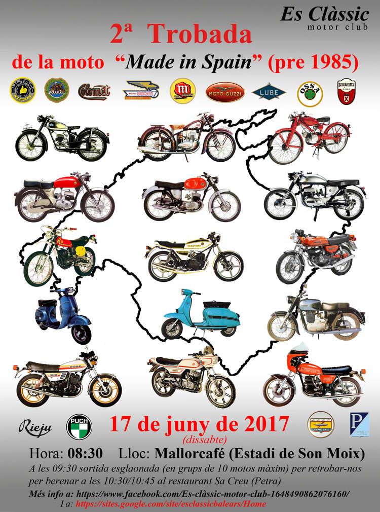 "2ª Trobada de la moto ""Made in Spain"" (Mallorca) Cartel10"