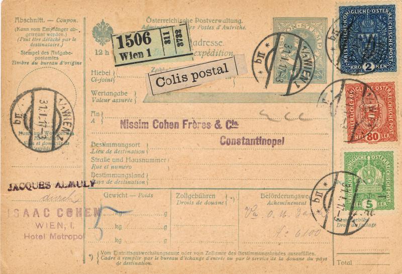 Postbegleitadressen mit fiskalischem Werteindruck Bga210