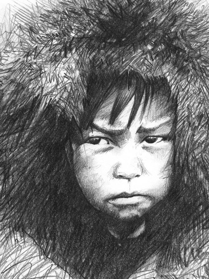 Koda, el joven hombre oso salvaje Inuit_10