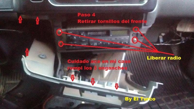 Como cambiar la radio de la L-200 mod 99 510