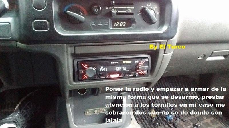 Como cambiar la radio de la L-200 mod 99 710