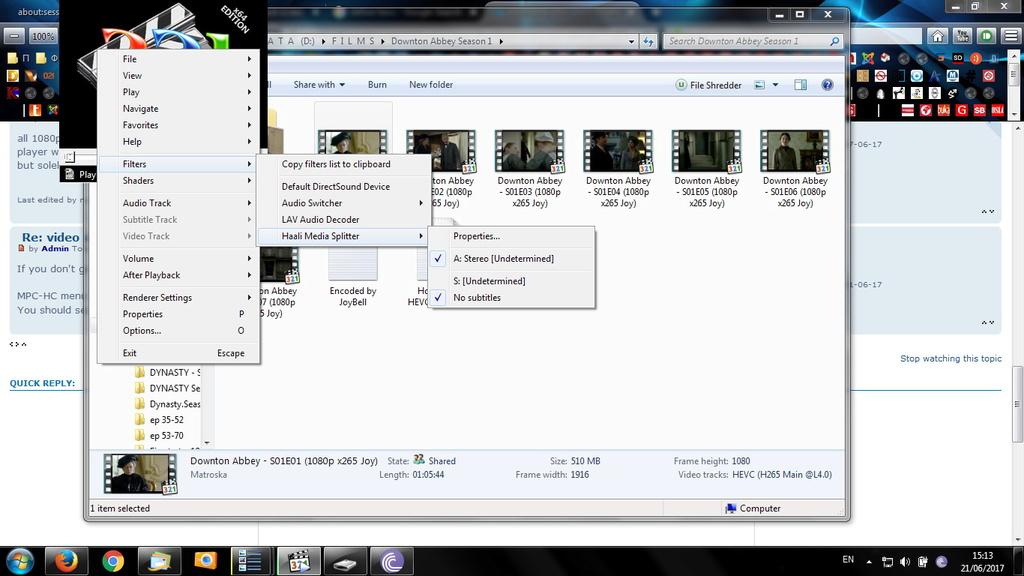 video stop after black screen ans after a few seconds it accelerates / Ryzen / x265 Clip_210
