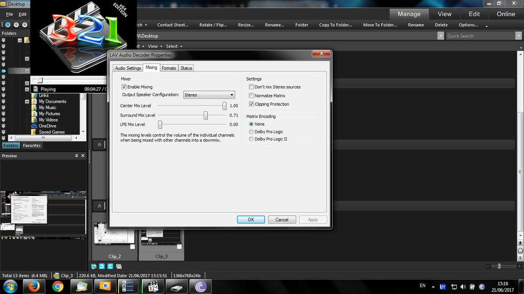 video stop after black screen ans after a few seconds it accelerates / Ryzen / x265 Clip_411