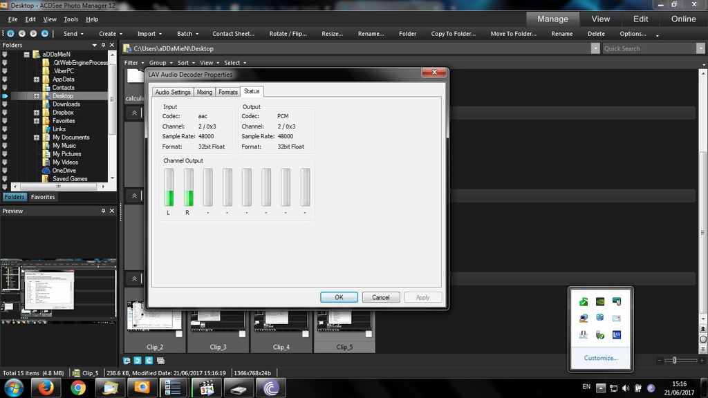 video stop after black screen ans after a few seconds it accelerates / Ryzen / x265 Clip_611