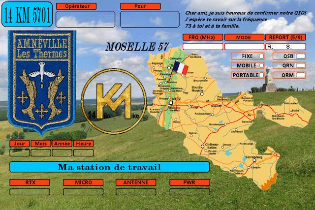 Création QSL Kilo Mike 14km5711