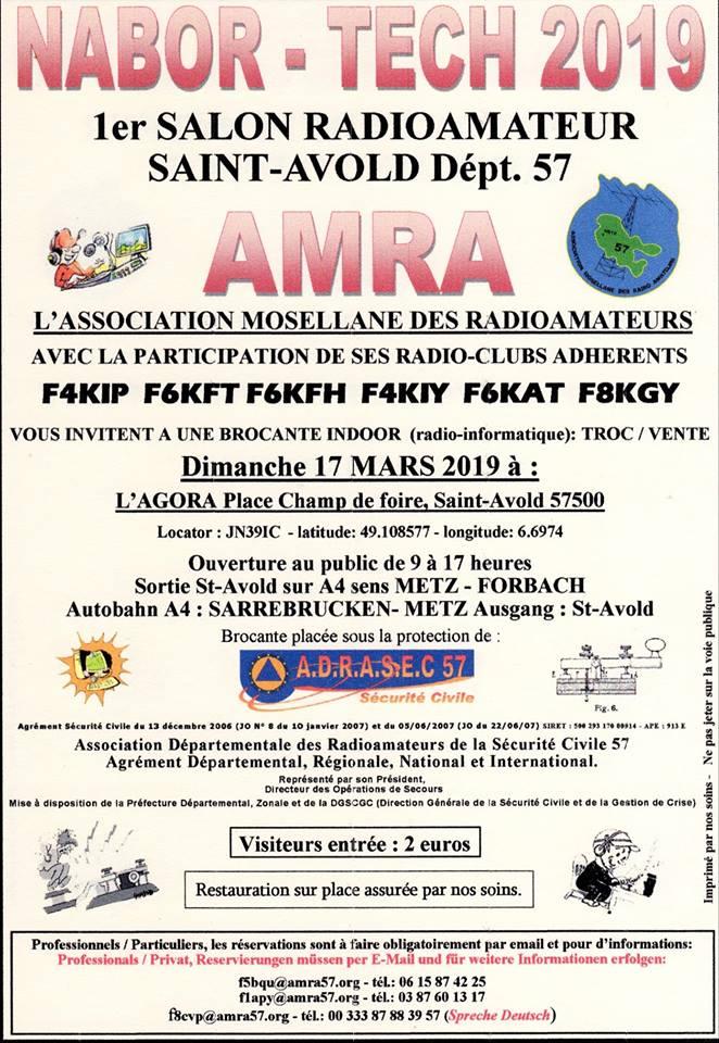 "NABOR-TECH 2019 1er salon radioamateur Saint-Avold ""dept 57"" (17 Mars 2019) Amra10"