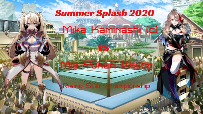 Summer Splash 2020: Rising Star Title: Mika Kaminashi(c) vs Mia Yukari Wilson Downlo19