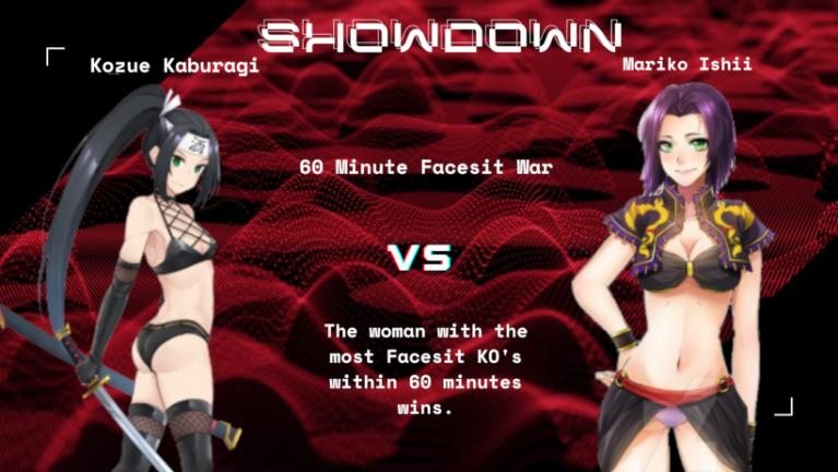 Showdown VI: Facesit War Match: Kozue Kaburagi vs Mariko Ishii Kozue_10