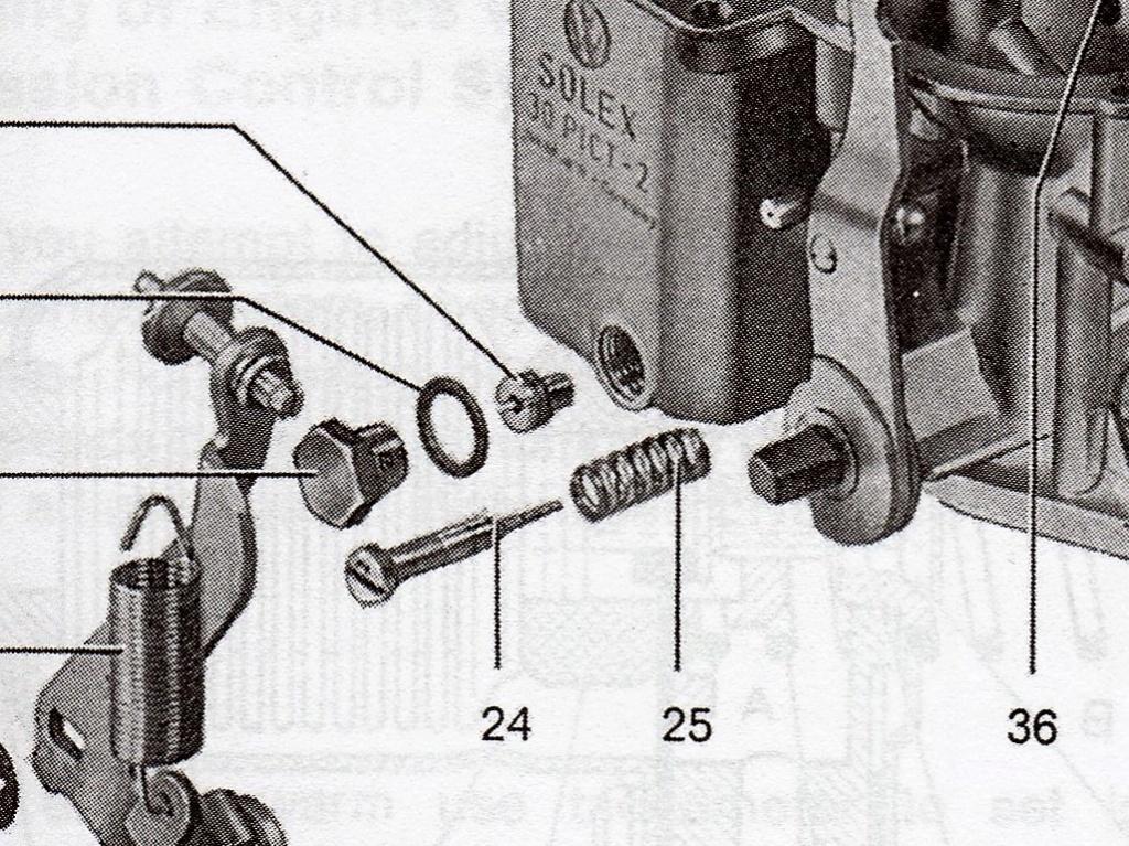Vis de réglage carburateur 30 PICT-2 et son ressort Dzotai10