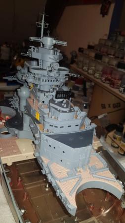 Multifunktions Modell von Hachette: Die Bismarck in 1/200  Baupha32