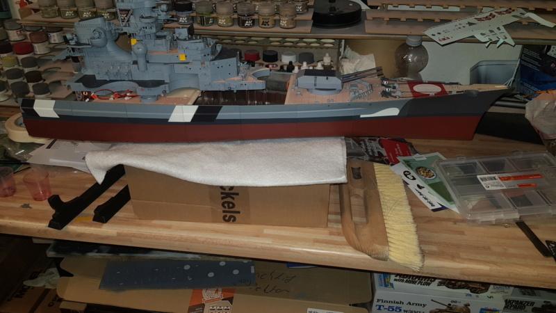 Multifunktions Modell von Hachette: Die Bismarck in 1/200  Baupha40