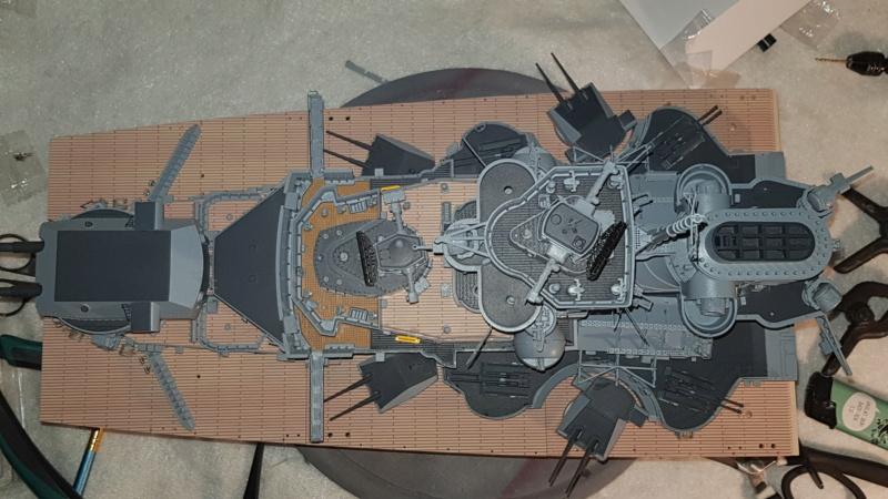 Multifunktions Modell von Hachette: Die Bismarck in 1/200  Baupha42