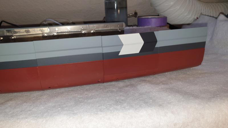 Multifunktions Modell von Hachette: Die Bismarck in 1/200  Baupha49