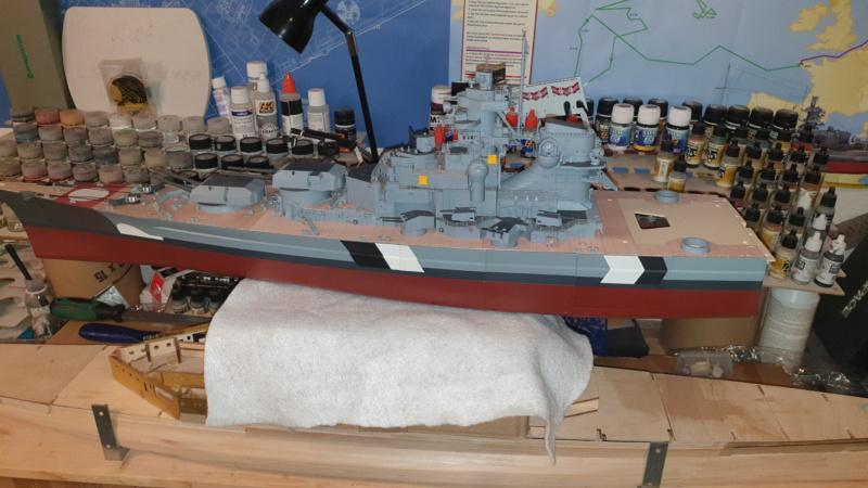 Multifunktions Modell von Hachette: Die Bismarck in 1/200  Baupha61