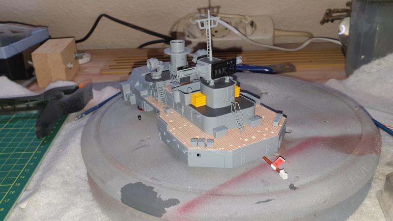 Multifunktions Modell von Hachette: Die Bismarck in 1/200  Baupha62