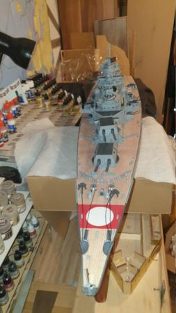 Multifunktions Modell von Hachette: Die Bismarck in 1/200  Baupha67