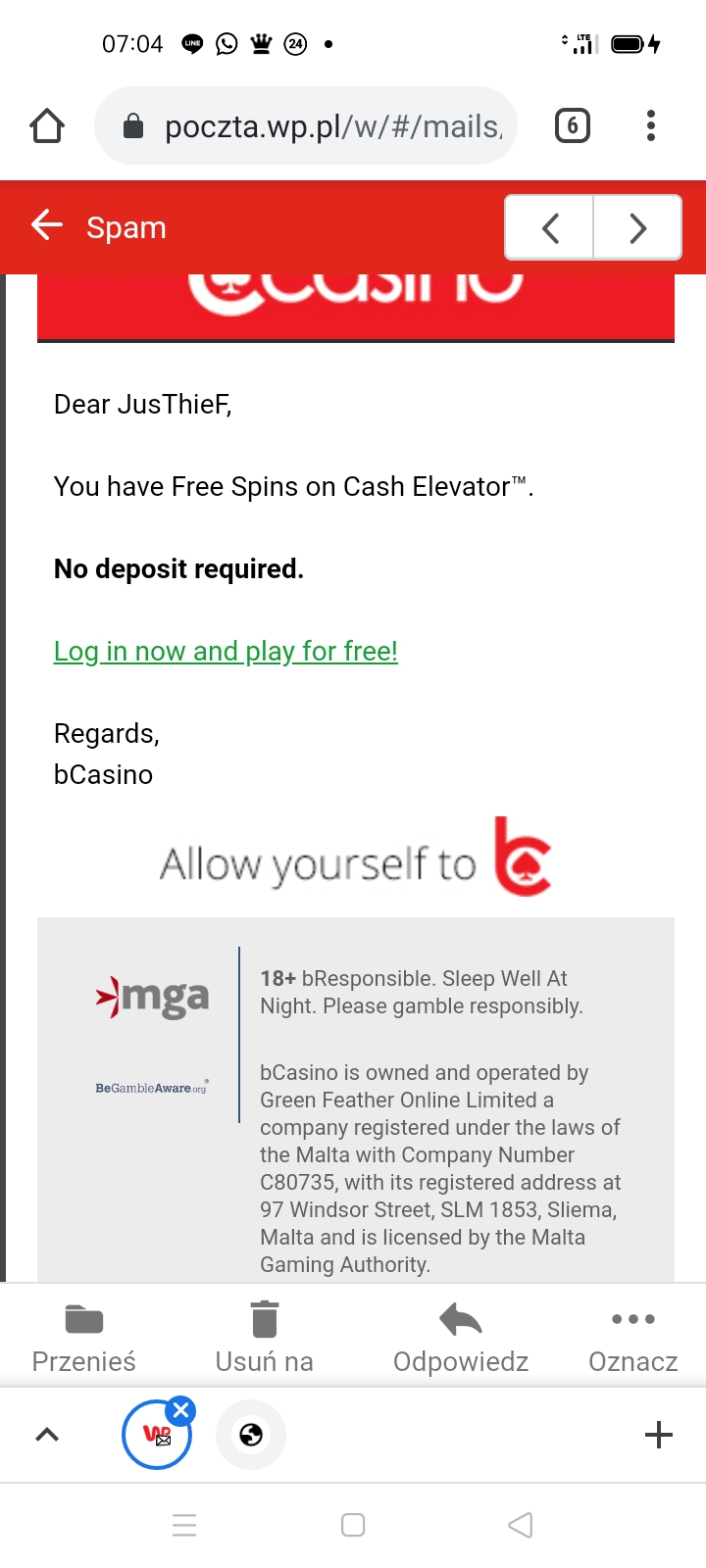 bcasino online 5 EUR bez depozytu Screen15