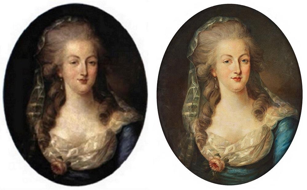 Enquête sur un tableau retrouvé de Marie-Antoinette attribué à Jean-Laurent Mosnier (vers 1776) Bukows10