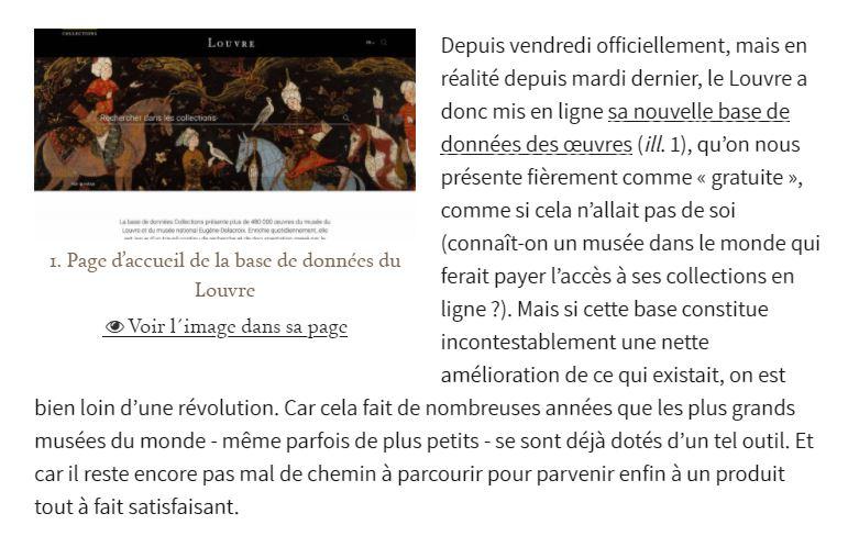 Mise en ligne du Musée du Louvre Captur34
