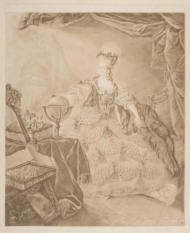 Portraits de Marie-Antoinette attribués aux Gautier Dagoty (ou d'après). - Page 3 Gautie11