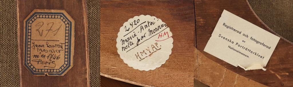 Enquête sur un tableau retrouvé de Marie-Antoinette attribué à Jean-Laurent Mosnier (vers 1776) Labels10