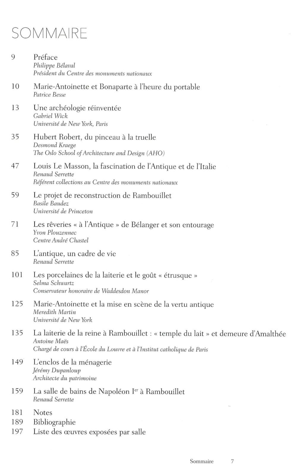 """Exposition """" Vivre à l'antique, de Marie-Antoinette à Napoléon Ier """" - Château de Rambouillet Scan210"""