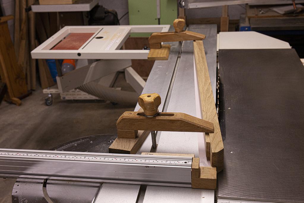 Gabarit de scie sous table pour joint en biseau (bois de bout) 481110