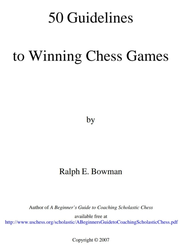 50 guidelines to winning chess games Screen25