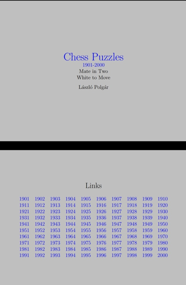CHESS PUZZLES - LASZLO POLGAR Screen45