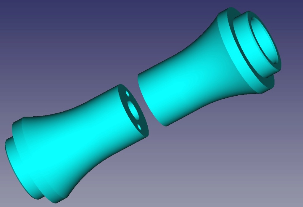 Cape SAF basculante impression 3D Axe00310
