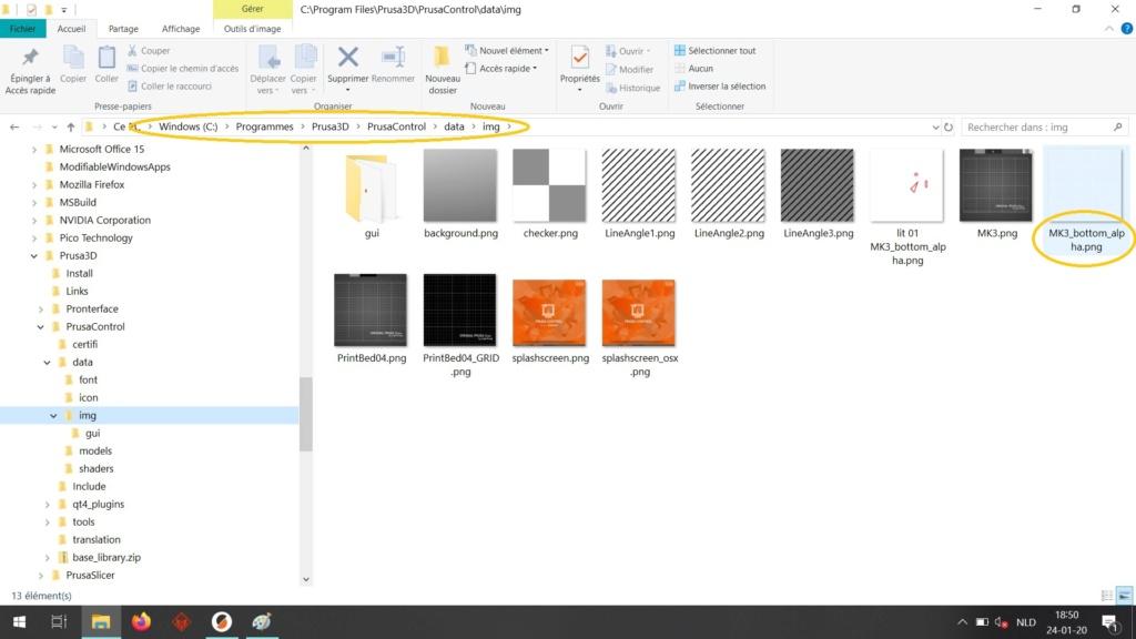 """Visualiser les """"accros"""" du PEI dans Slic3r Lit_0211"""