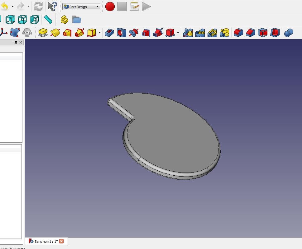 """Comment dessiner une forme de """"goutte"""" sur Freecad Spiral11"""
