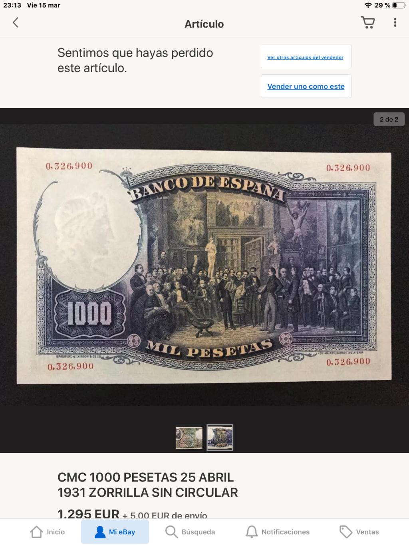 1000 Pesetas Jose Zorrilla precios y estimaciones  - Página 5 0cdae410