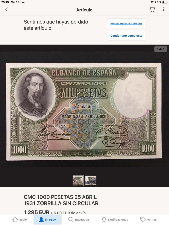 1000 Pesetas Jose Zorrilla precios y estimaciones  - Página 5 0fa5bd10