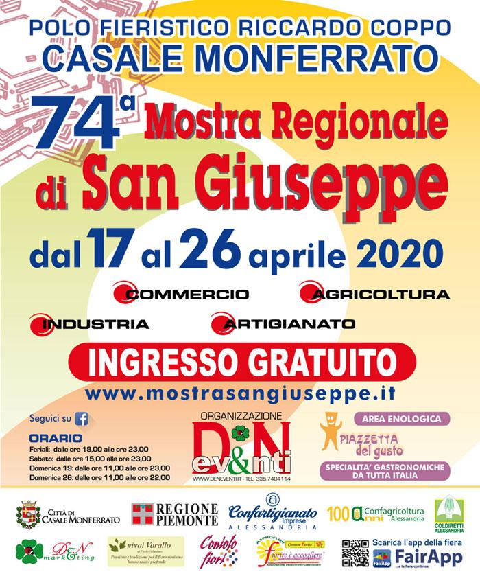 74° Mostra Regionale di San Giuseppe rinviata al 17 aprile 2020 Locand10