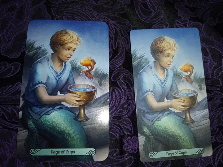 Таро Русалок (Mermaid Tarot) Сравнение ориганала и китайской версии 87485910